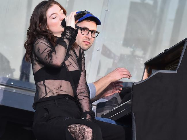 Lorde and Jack Antonoff perform onstage during the 2017 Governors Ball Music Festival in New York City. Picture: Getty