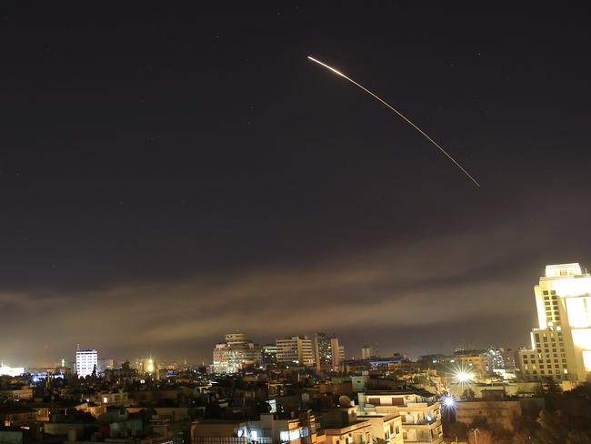 Damascus skies erupted with missile fire as the US launched an attack on Syria.