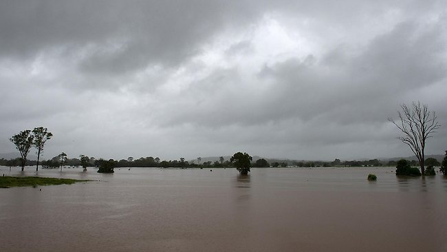 The Mary Valley on the outskirts of Gympie is flooded. Gympie residents are bracing for the fourth flood of the year with the Mary River expected to peak.