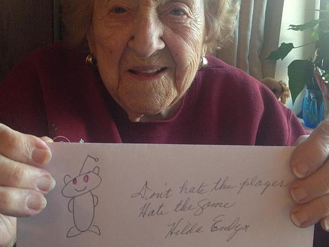 Hilda's grandkids came over and helped her with the reddit thread. We assume they provided this modern adage too.