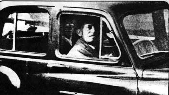 Back Seat Ghost: Mr and Mrs Chinnery were visiting the grave of Mabel Chimmery's mother one day in 1959. Mabel, before walking back to the car, took an impromptu photo of her husband who was sitting alone in the car. Or so he thought. Upon getting the film developed Mabel realised there was another figure in the car, sitting in the back seat, which happened to look a lot like her late mother! Picture: Supplied