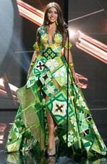 Catalina Morales, Miss Puerto Rico 2015 debuts her National Costume on stage at the 2015 Miss Universe Pagaent on December 16, 2015 in Las Vegas. Picture: HO/The Miss Universe Organization
