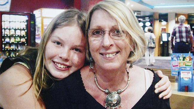 Yvana Bischoff, 14, and her mother Noelene Bischoff who died in Bali after suspected food poisoning. Picture: Marshall Sarah