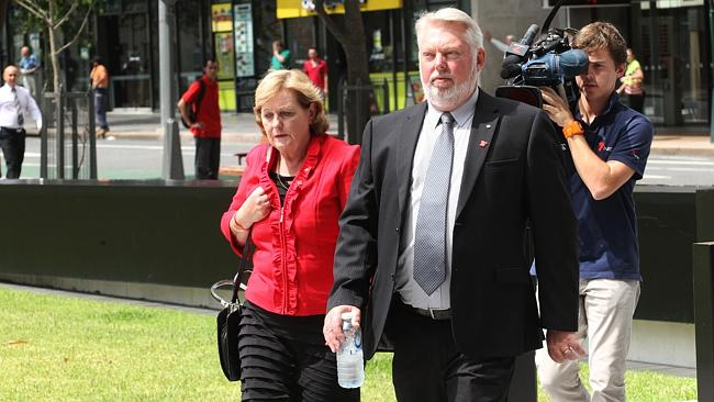 Bruce and Denise Morcombe arrive at Supreme court for second day of trial Brett Peter Cowan the accused killer of their son D...