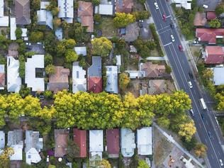 Budget2016 - stock images to be used for Budget 2016 stories. ESPL A view from directly above a residential suburb of Melbourn, in Victoria State, Australia. Picture: istock