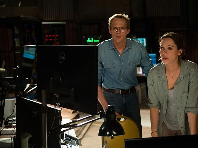 Surprisingly shallow ... Paul Bettany, left, and Rebecca Hall in a scene from Transcendence. Picture: Peter Mountain
