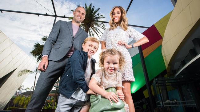 Rebecca and Chris Judd with two of their children, Billie and Oscar.