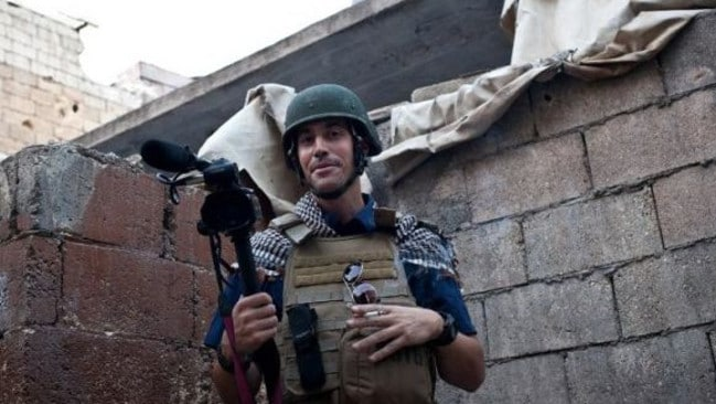 Previous kidnap....James Foley was kidnapped once before in Libya and released after six weeks. Picture: AFP/Nicole Tung