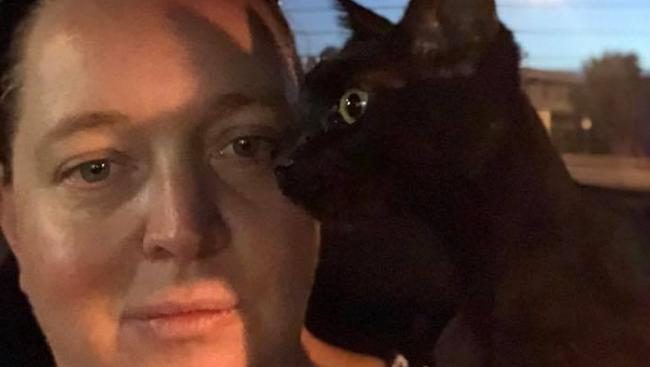 Megan Eastaughffe found and helped rescue a six-month-old kitten found weighed down by an electric saw in the River Torrens, Fulham. Picture: Supplied