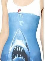 Jaws meets the Little Mermaid on a Black Milk dress.