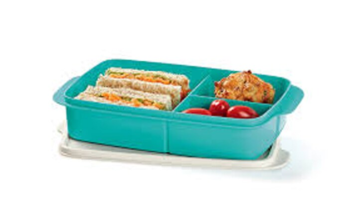 "<p><b>Tupperware Large Divided Lunch Box – RRP $19</b></p>  <p><b>Pros:</b> When you buy Tupperware, you know you are getting a quality brand. This is a simple lunch box that fits plenty of food in for lunch (although older kids may need a separate snack box for recess). The lunch box is spill-proof and easy to clean in the top-rack of the dishwasher.</p>  <p><b>Cons:</b> The old Tupperware sandwich keeper was an all-in-one unit. This box has a separate lid, which is can be tricky for younger kids to operate. It sticks on tight! You can't fit a whole piece of fruit in this lunch box.</p>  <p>Jenny, mum to two girls, says, ""I loved the old sandwich-keepers, but this new version is too hard for my five-year-old to operate. I use it to keep my sewing paraphernalia in…""</p>"