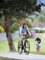 Georgia Chambers of St Marys College in the grade 7 Individual Girls event. Triathlon Schools Challenge 2016 at Bellerive. Picture: NIKKI DAVIS-JONES