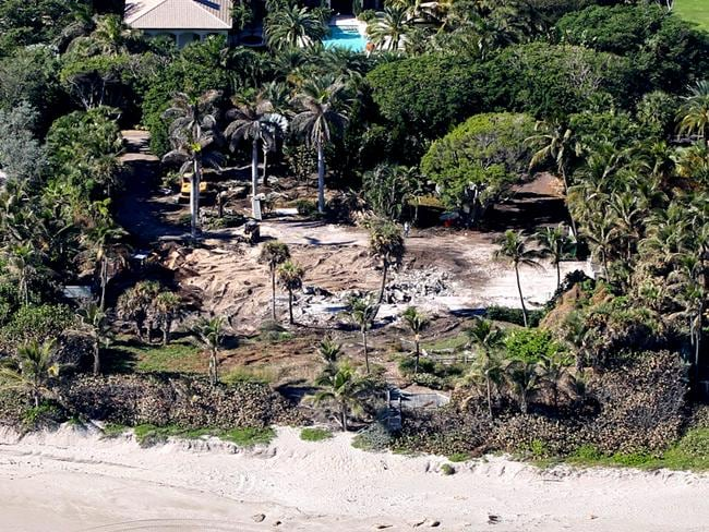 How the same property looked in January 2012, after Elin Nordegren demolished the house to build her own dream home. Picture: Pichichi / Splash