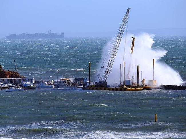 Wild weather whips up waves near Mornington. Picture: Getty Images