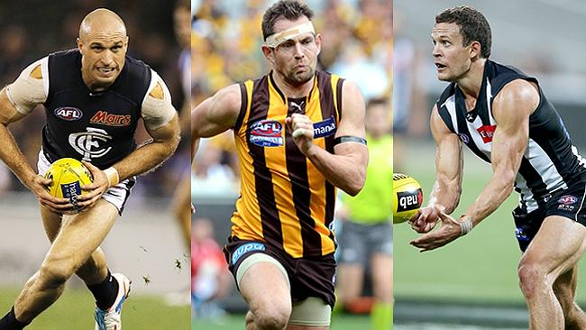 Of the top three picks in the 2001 draft, all of Chris Judd, Luke Hodge and Luke Ball are premiership players, but only Hodge remains at his original club.