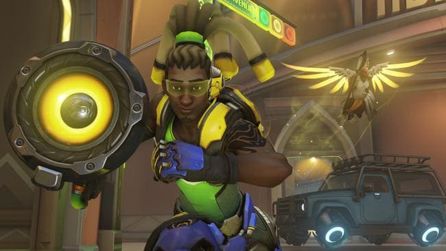 Lucio and Mercy, two of the playable support heroes in Overwatch. Picture: Blizzard Entertainment