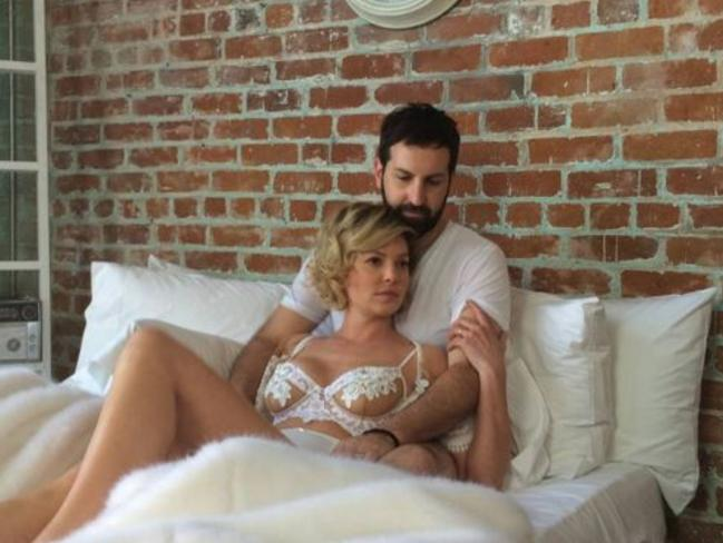 What is it? ... Katherine Heigl and husband Josh Kelley are working on a 'secret project' together. Picture: Instagram