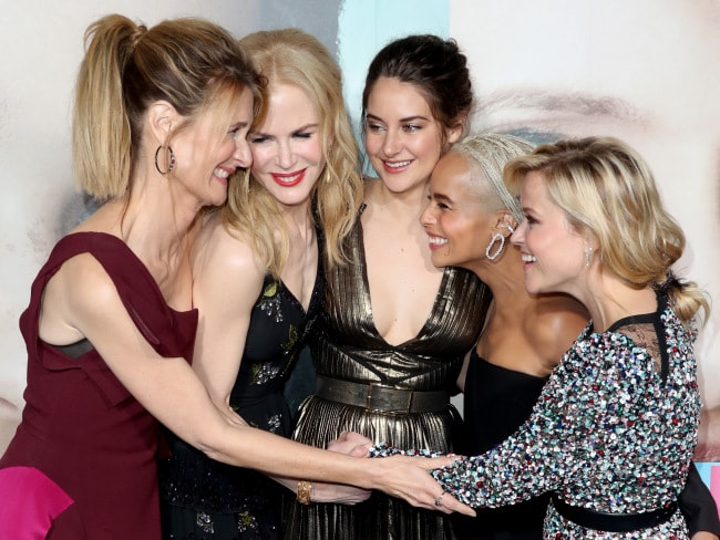 Laura Dern, Nicole Kidman, Shailene Woodley, Zoe Kravitz and Reese Witherspoon at the premiere of Big Little Lies. Photo: HBO