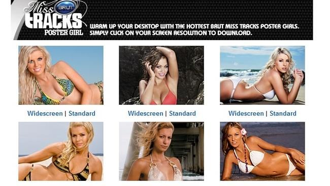"The 'Girls' tab of the Tracks website features 'Vixen', 'Poster Girl' and ""Miss Bintang' sections."