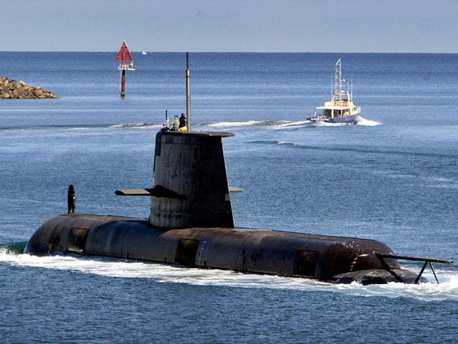 Unseaworthy ... the Australian Collins Class submarines are not able to be sent to sea. Picture: News Corp Australia.