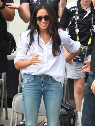 Meghan Markle's first public appearance with Prince Harry at the Invictus Games Toronto 2017. Picture: Karwai Tang/WireImage