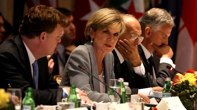 Foreign Affairs Minister Julie Bishop at the Global Counter Terrorism Forum in New York