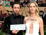 Simon Helberg and Jocelyn Towne attend The 23rd Annual Screen Actors Guild Awards at The Shrine Auditorium on January 29, 2017 in Los Angeles, California. Picture: Getty