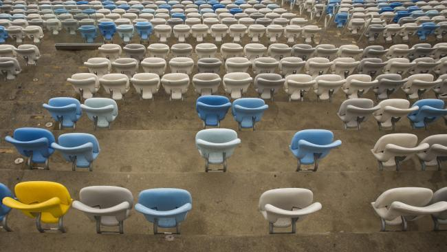 Seats had been ripped up at the Maracana following months of neglect. Picture: Guito Moreto/Agência O Globo