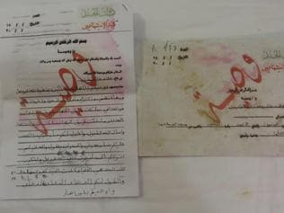 Teenage militant Alaa abd al-Akeedi's final letter to his family appears on official Islamic State stationery, In Erbil