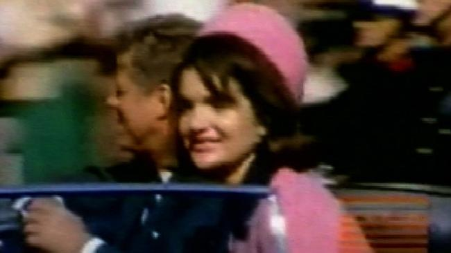 8mm home movie still released by the Sixth Floor Museum featuring John F Kennedy and his wife Jacqueline moments before his assassination. Picture: Ap