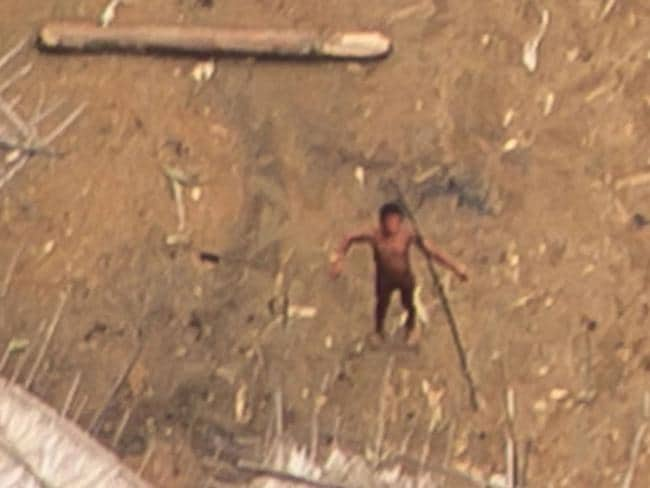 Uncontacted Yanomami yano (communal house) in the Brazilian Amazon. Picture: Guilherme Gnipper Trevisan/Hutukara