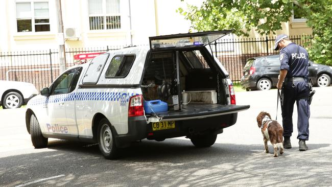 Mosman High School has been evacuated and police and sniffer dogs were at the scene.