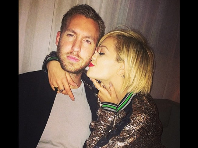 "Happier times ... After their break up Rita Ora posted this picture with the caption ""I miss this face."""