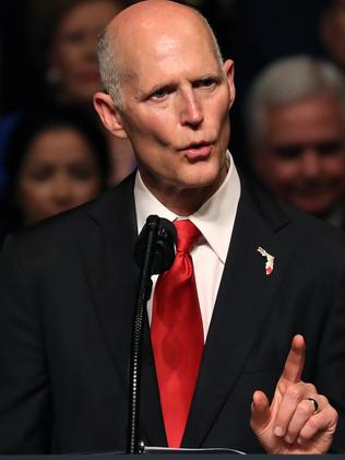 Florida Governor Rick Scott was on hand to support Donald Trump. Picture: Getty