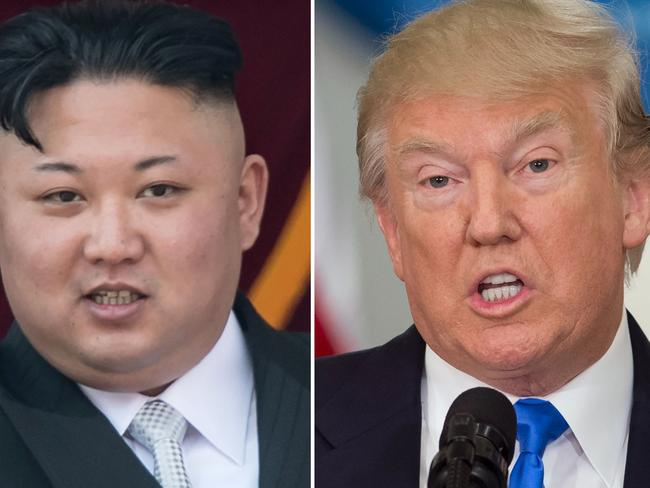 North Korean leader Kim Jong-un and US President Donald Trump. Picture: AFP.