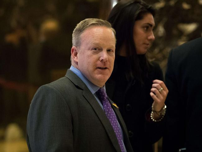 Sean Spicer will be press secretary as well as communications director. Picture: Getty
