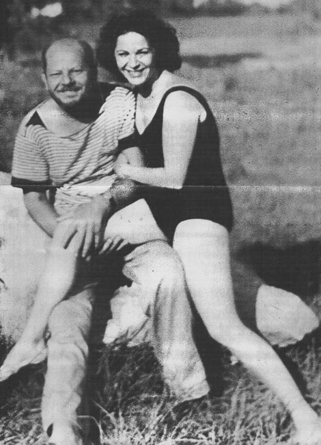 Jackson Pollock with lover Ruth Kligman just hours before his death in a horror car crash. This picture was taken by Edith Metzger, Kligman's friend who also died in the crash. Kligman survived to tell the story of Pollock and Metzger's final moments.