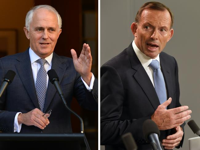 Current Australian Prime Minister Malcolm Turnbull is potentially facing further headaches from former prime minister Tony Abbott. Picture: AFP