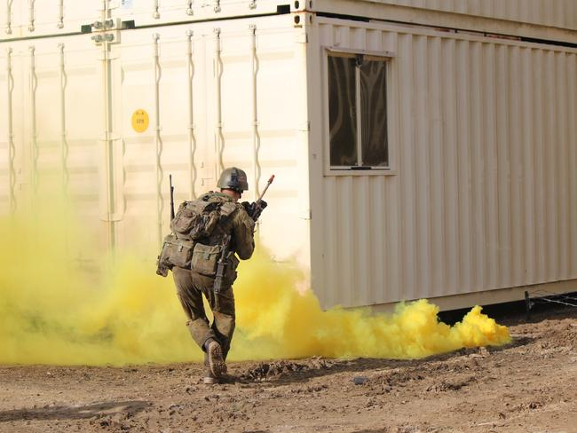 War games in central Queensland. Picture: Lara Lauth
