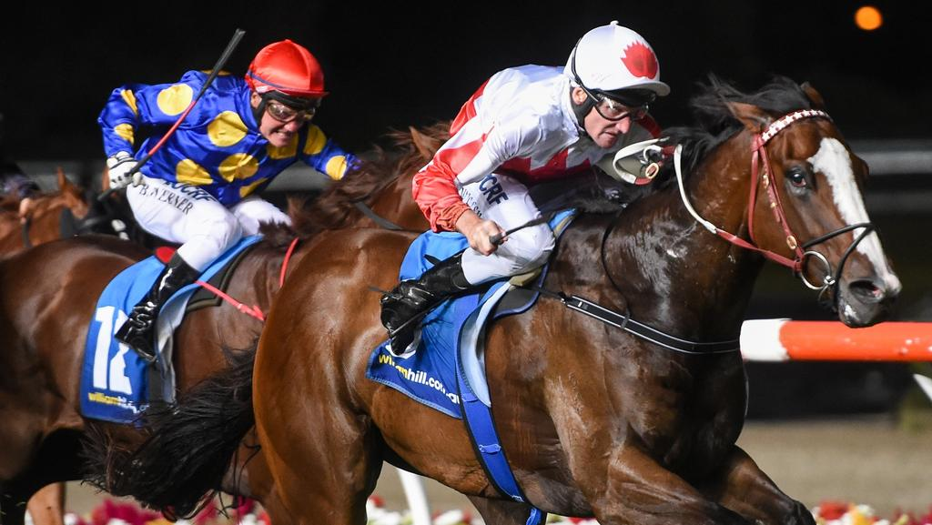 Handsome Thief wins at Moonee Valley. Picture: Brett Holburt/Racing Photos