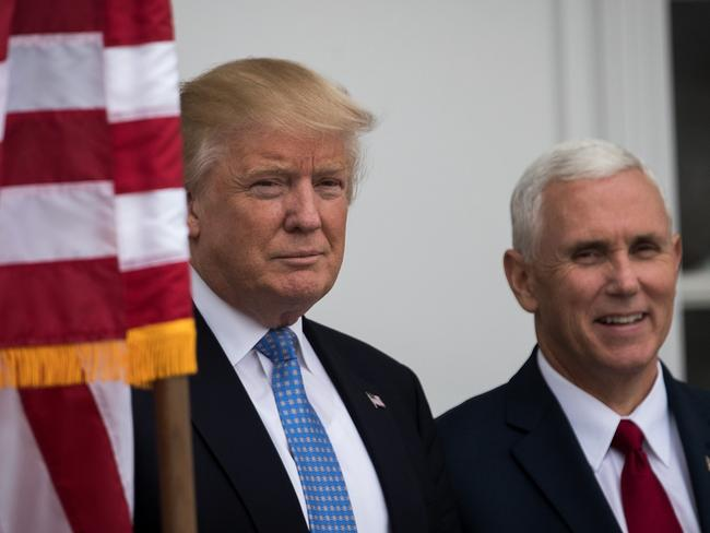 President-elect Donald Trump and vice president-elect Mike Pence are both visiting Indiana. Picture: Getty