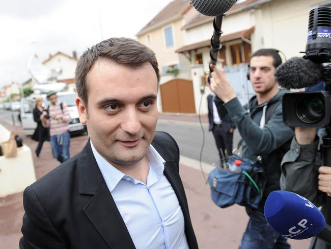 Elected to EU: French far-right National Front vice-president Florian Philippo. AFP PHOTO / STEPHANE DE SAKUTIN