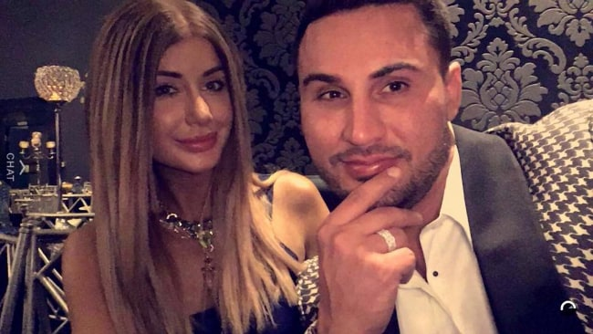 Undated Facebook picture of disgraced Auburn Councillor Salim Mehajer and his wife Aysha Mehajer (nee Learmonth). On Monday (11/07/2016) Aysha lodged an application for an apprehended violence order (AVO) against Salim.