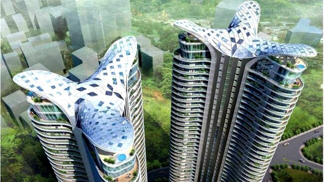 "The towers have been called an ""architectural nightmare"". Picture courtesy of James Law"