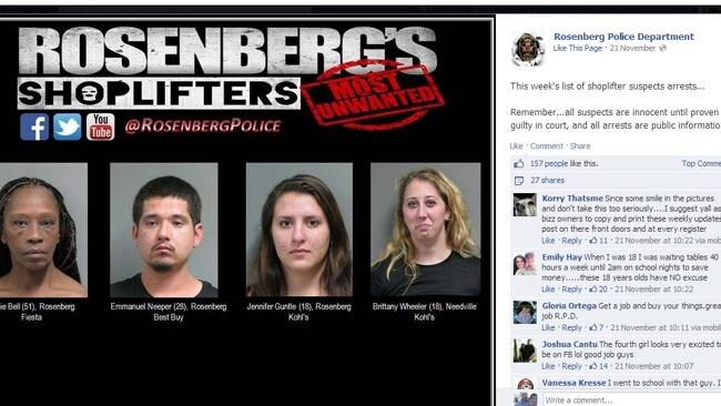 Picture: Rosenberg Police Department's Facebook page.