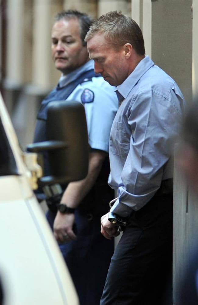 Adrian Bayley leaves the Supreme Court in Melbourne after being sentenced for the murder and rape of Jill Meagher.