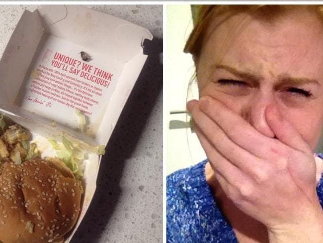 Not delicious: Ms Stevenson posted her reaction to finding part of a cockroach in her Big Mac