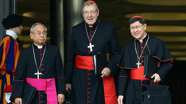 Archbishop of Sydney cardinal George Pell and Archbishop of Manila, cardinal Luis Antonio Tagle.