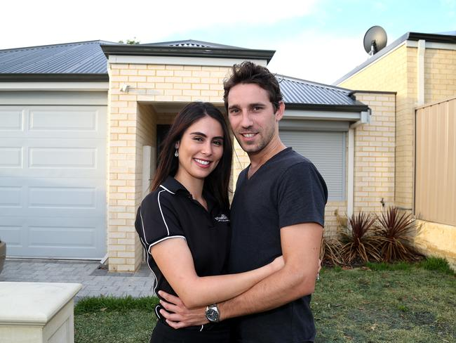 John and Daniela Uifelean are buying house in Balga and make sure their mortgage is a priority in their household budget. Picture: Bohdan Warchomij