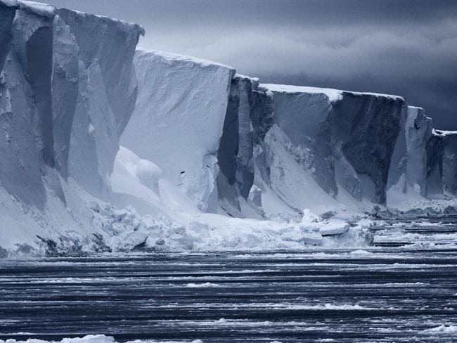 An ice wall in Antarctica. Scienctists are seeking to understand Antarctica's odd melting patterns. Picture: AFP
